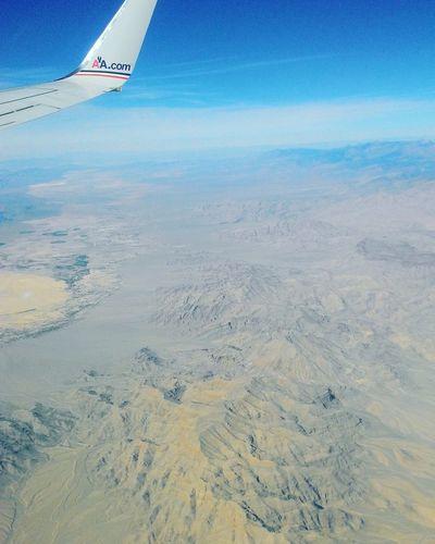 American airlines Vegas view Sea Beach Sand Air Vehicle Blue Aerial View Sky