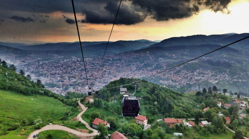 Hills Ropeway Angel View Beauty In Nature Cloud - Sky High Angle View Landscape Sky Tranquil Scene