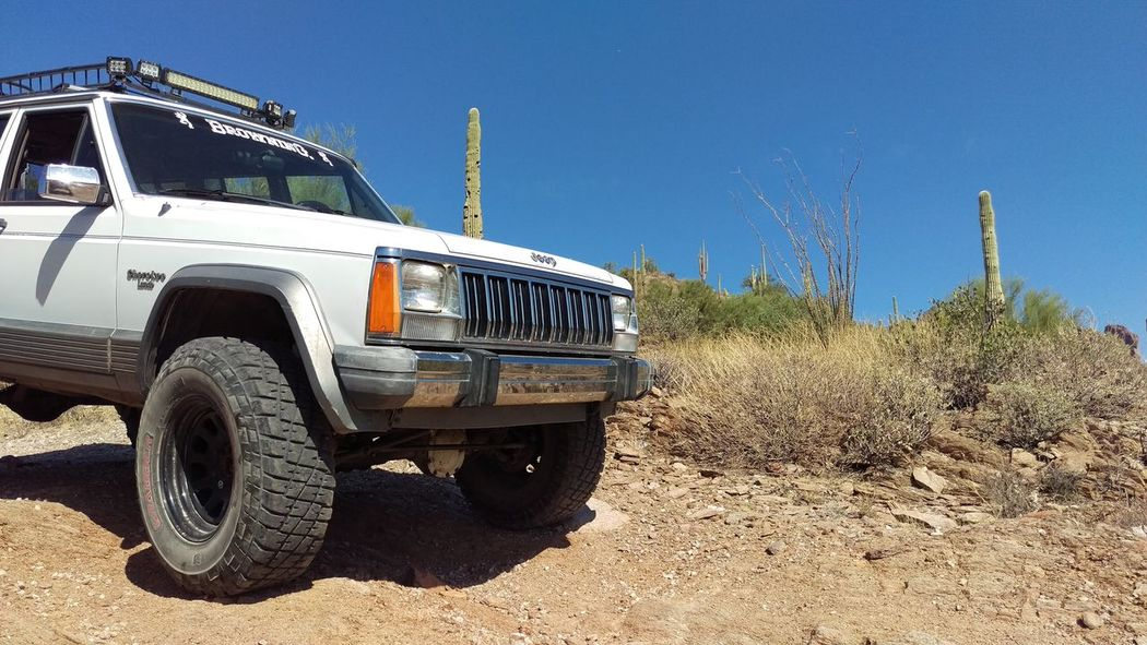 4x4 Arizona Blue Clear Sky Day Land Vehicle Mode Of Transport Nature No People Off-road Vehicle Outdoors Sky Stationary Sunlight Tire Transportation