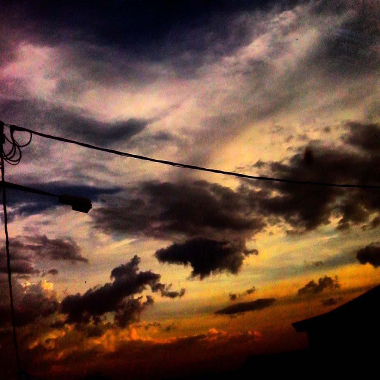 sunset, sky, silhouette, cloud - sky, dramatic sky, nature, low angle view, no people, beauty in nature, outdoors, scenics, yellow, day