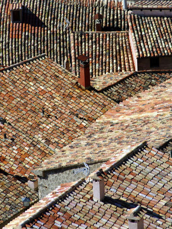 Architecture Building Exterior Day Roof High Angle View Rooftops Historic Historical Building Tiles SPAIN Albarracín