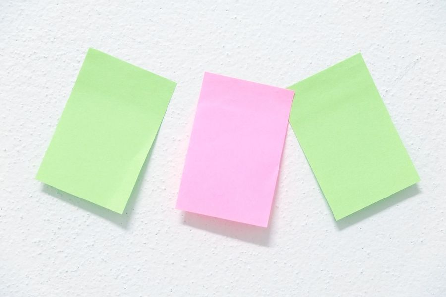 post it paper Wall Close-up Indoors  Multi Colored No People Office Supply Post It Post It Notes Post It Paper Postit Postitnotes White Background