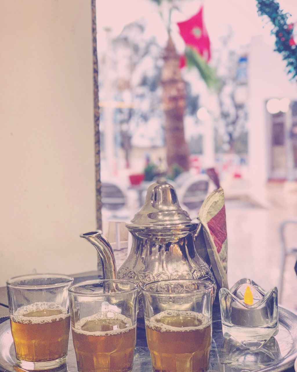 drink, food and drink, refreshment, table, household equipment, focus on foreground, glass - material, glass, freshness, still life, transparent, drinking glass, close-up, indoors, container, no people, food, jar, business, restaurant, teapot