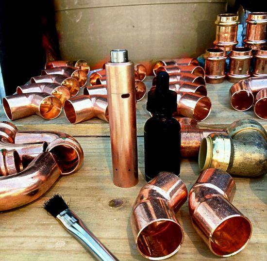 Vapelyfe Vape VapeLife Plumbing Copper  Fittings Brass Shiny Shiny Things Bright Work Blank Text