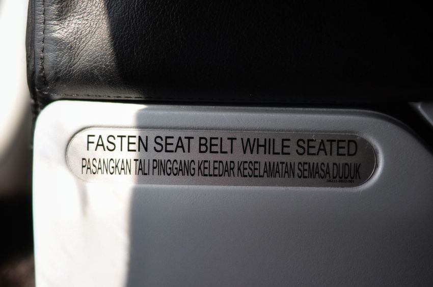 Close-up Simple Minimalist Taking Photos Miri, Malaysia Sommergefühle Textured  Backgrounds EyeEm Selects Flight AirAsiaMalaysia Airasia Safety Safetyfirst Safety Sign Fasten Seat Belt Seat Belt