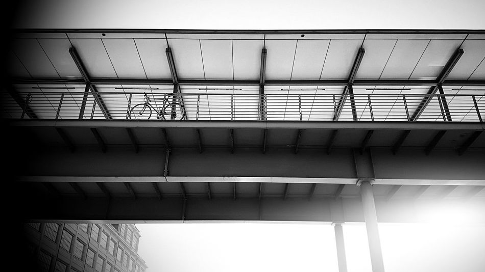 Architecture Bridge - Man Made Structure Built Structure No People Outdoors Close-up Sky Day Silhouette Scenics Cloud - Sky Leisure Activity Lifestyles Transportation Bike Black And White