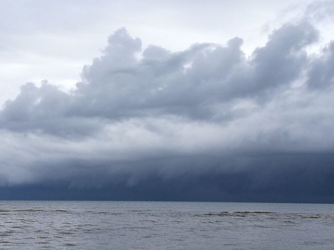 Stormy Weather Beauty In Nature Cloud - Sky Day Horizon Over Water Idyllic Nature No People Outdoors Scenics Sea Sky Storm Approaching Storm Cloud Tranquil Scene Tranquility Water Waterfront