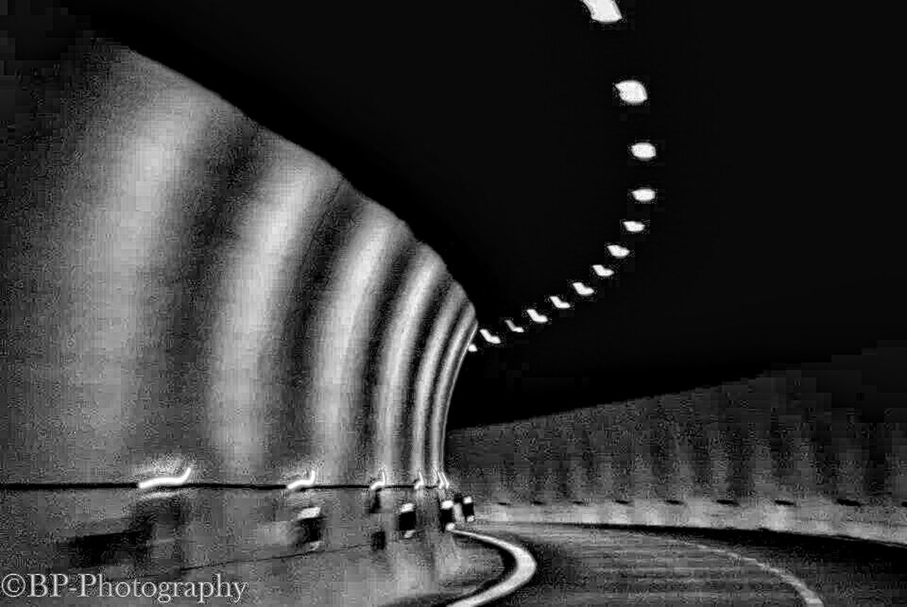 tunnel, the way forward, illuminated, no people, indoors, built structure, road, architecture, day
