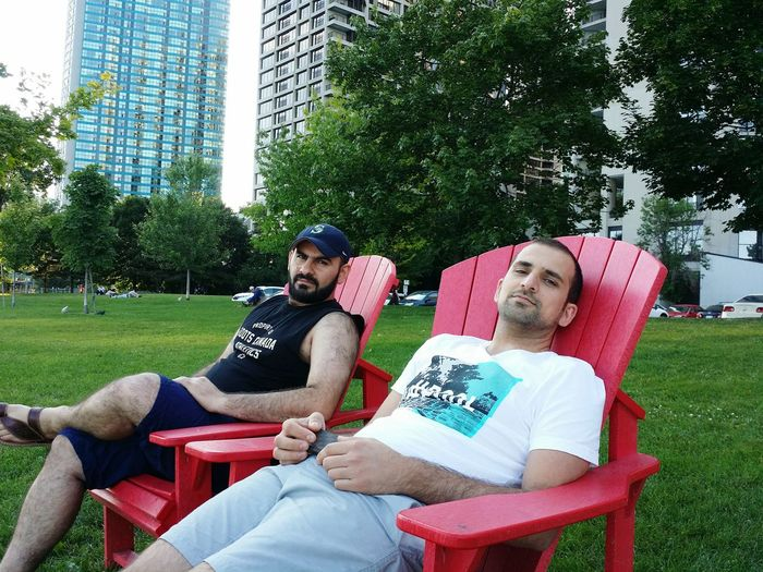 That's Me Relaxing Toronto Walking Around with my bestie Milad😆
