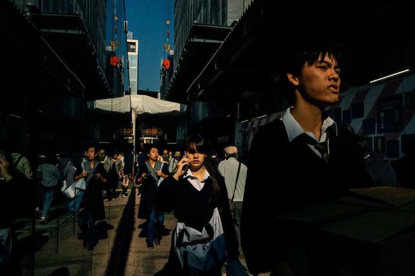 Yokohama Station | Under the Relentless Sun Japan ShotOnIphone Yokohama Light And Shadow Mobilephotography Real People Rnifilms Streetphotography