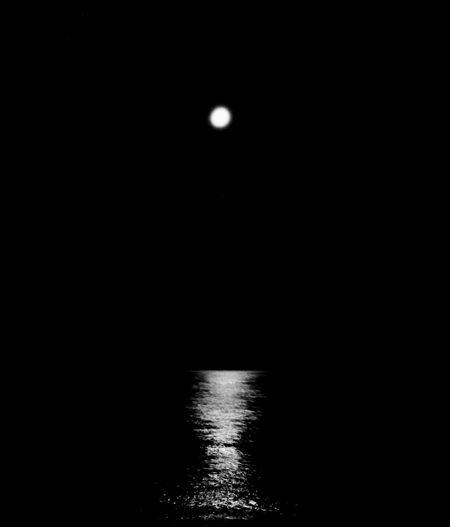 Moon reflection Calabria Filmphotography Italy EyeEm Moon Water Night Sky No People Nature Scenics - Nature Waterfront Beauty In Nature Reflection Outdoors Dark Moonlight Sea Tranquility Capture Tomorrow
