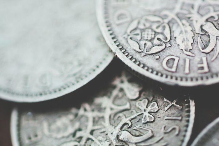 Macro Vintage Coins Oldcoins Silver