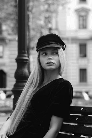 Portrait Model Blackandwhite One Person Adult People Young Adult Young Women Women One Woman Only Only Women Adults Only One Young Woman Only Beauty Beautiful People Beautiful Woman Day Outdoors City The Week On EyeEm