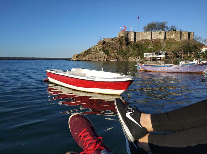 Giresun Aşk Love ♥ Türkiye EyeEm Selects Water Nautical Vessel Sea Moored Clear Sky Harbor Tree Sky