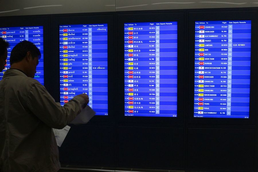 Airport Arrival Departure Board Business Travel Travel Journey Transportation Passenger Business Arrival Businessman Leaving Airplane One Person Transportation Building - Type Of Building Airport Departure Area Standing Indoors  Flying One Man Only Adult