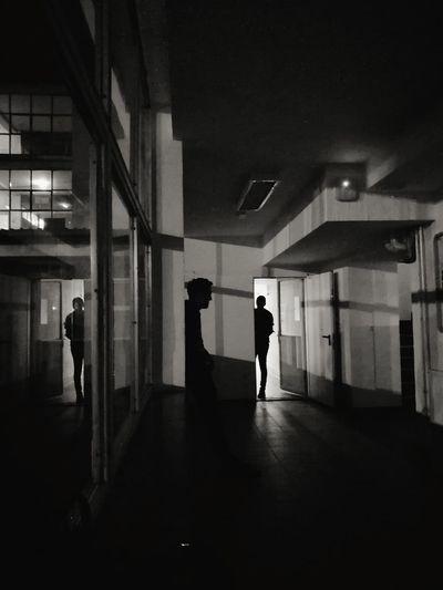 People Architecture Night Lost In The Landscape The Week On EyeEm EyeEmNewHere Silhouette Shadow Window Novi Pazar Blackandwhite Photography Black And White Black And White Friday Be. Ready. Go Higher The Architect - 2018 EyeEm Awards