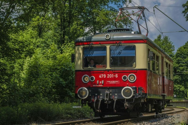 Triebwagen Flachstrecke - Oberweißbacher Berg- und Schwarzatal Bahn Thuringen Heikobo Foto Bahn Thüringer Wald Bergbahn