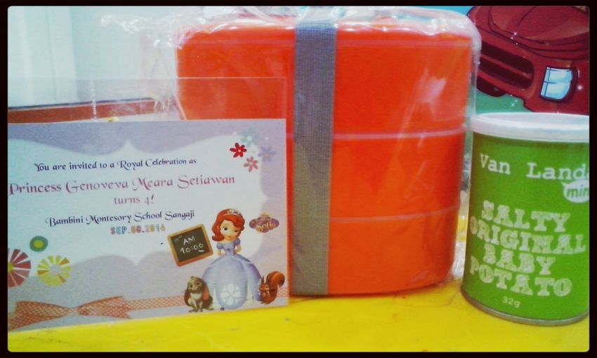 Gift from my students.. Goodie Bag Lunch Box Orange! Likeforfollow