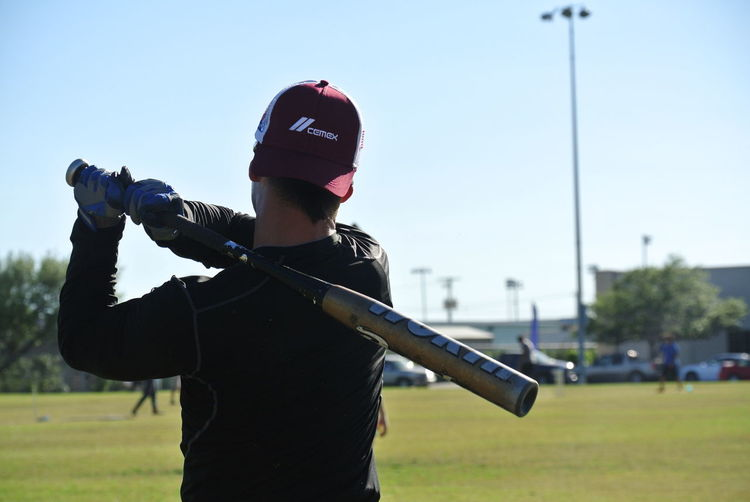 Dedication comes from within Adult Baseball Bat Clear Sky Fun One Person Outdoors Sky Sport TAMUK