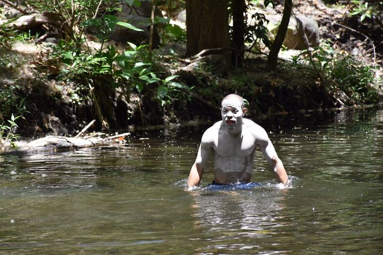 Waiting for an alligator to pop up! Costa Rica Volcanic Spring River Life Traveler Traveling The World Live For The Story Jungle JungleExperience