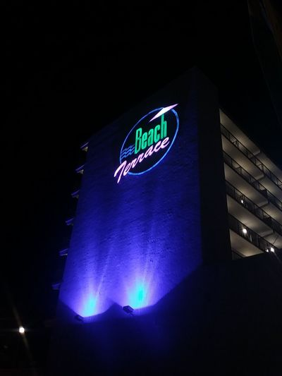 at the beach Blue Building Exterior Photos By Jeanette Colors Summertime Wildwood Jersey Bright Nj Vacation Stadium Illuminated Sport Nightlife Office Building HUAWEI Photo Award: After Dark