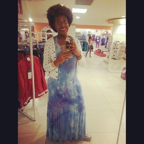 Amazinggirl AfricanStyle Africanfashion Niggaz blackwoman curlyhair dress blue cardigan cavalera o Último look de hoje