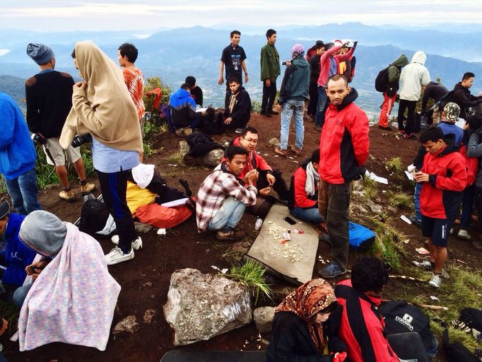 Together On top Mt. Burni Telong Aceh INDONESIA
