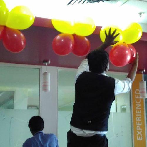 Activity Office Dimensiondata Manyata_tech_park Baloons Everywhere Kannadarajyotsava Beautiful Ilovebengaluru Instaevening Instalike Instapic