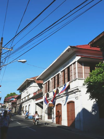 Philippines Architecture Outdoors Building Exterior Sky Day Clear Sky Travel Destinations Flag Philippines Philippine Flag Spanish Arquitecture Spanish Style
