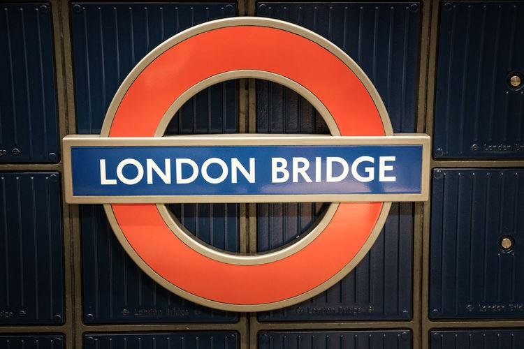 Sign At London Bridge Station