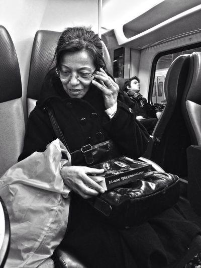 Fifty shades darker Train Riding The Train AMPt_community NEM Black&white
