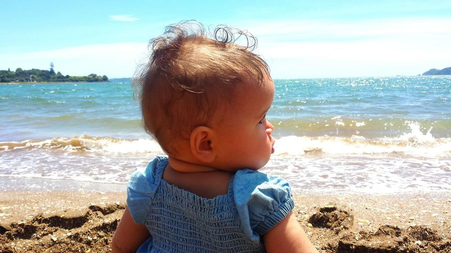 Sunlight Summer Childhood Leisure Activity Babies Only Happiness Outdoors Swimming Baby Beach Sea Lifestyle Photography Relaxing Simple Pleasures Blue Sky Sun Sand Surf Sun Sand & Sea Sandy Beach Baby Photography Scenics Scenery Shots Water_collection Baby Collection Water Baby Happiness