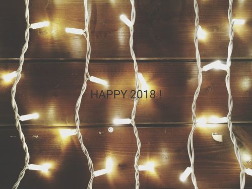 Happy 2018 Text Communication Indoors  No People Technology Day