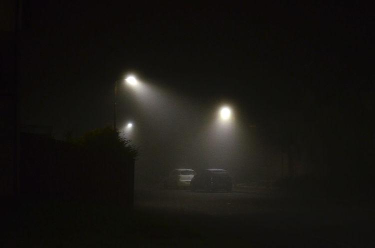 Creepy Dark Dark Fog Foggy Foggy Night Glowing Illuminated Mist Misty Misty Evening Night Night Time Night Time Photography No People Scary Street Street Light Street Light Street Night Street Photography Streetphotography