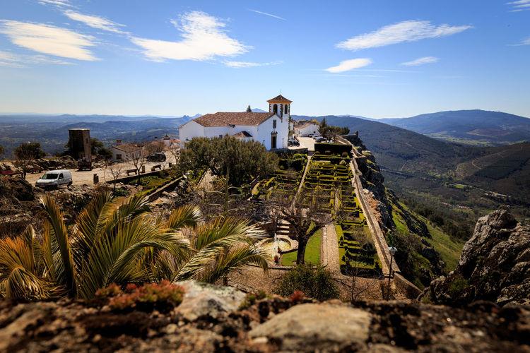 Medieval village of marvao against sky