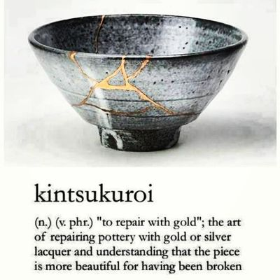 DoYouKnow that Japanese used to mend the broken objects, they aggradize the damage by filling the cracks with GOLD ?! Aha ! They do believe that something that do suffered damage and has a history of damage becoming more beautiful in future... Maka.... Kita pun begitu.... Sepatutnya We did face the turmendous pain, difficulties and perhaps heart broken that we do think its something like going to be our last day of life and this is all my life about, my life will end here, bla..bla..bla... all the words which full of despair and hopless... And SO SUDDEN we are still alive today ! Able facing those that we think we cant ! MasyaAllah... Indeed Allah dont leave burden to whom that cant handle it... * Everyone do have scars and even having our own heart broken version but why dont we seek Allah and ask HIM to mend our broken heart? Allah S.W.T can mend HIS slaves' heart but we have to give HIM all the pieces. We must give HIM sole conviction to turn ourselves in good shape ! Do believe that the scar we owned, the suffer, the pain, the bleak history will turn us into beautiful, bold hearted and even better muslims, InsyaAllah... * Kalauakukaya pinggan retak kucantum guna emas wooo haha *kidding* NurSyiffaRosman @LightOfCure 1532 051113 *This picture is taken from Sister Yasmin Mogahed's FB... Addin muslims almightybless