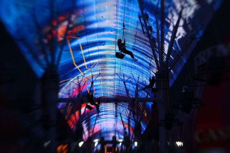 Zip Line Night Illuminated