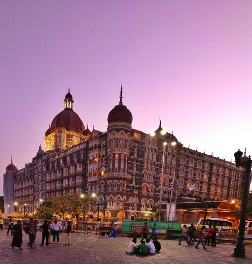 Waah Taj!! Travel Destinations Architecture People Outdoors Building Exterior Sky Gatewayofindia Evening Photography Beauty In Nature Taj Hotel Mumbai Tajhotelmumbai Mumbai Taj MumbaiDiaries Light Effect Colours Vacations eyeemnewhere EyeEmNewHere EyeEm Selects Sommergefühle