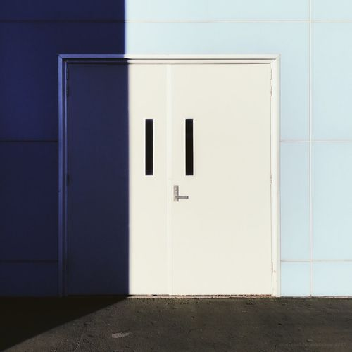 View of blue door