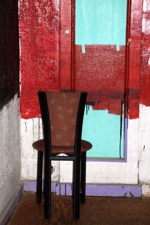 Architecture Built Structure Chair Door Indoors  No People Red Seat