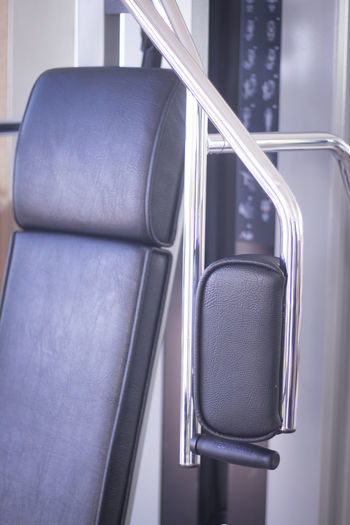 Close-up of empty seats in bus