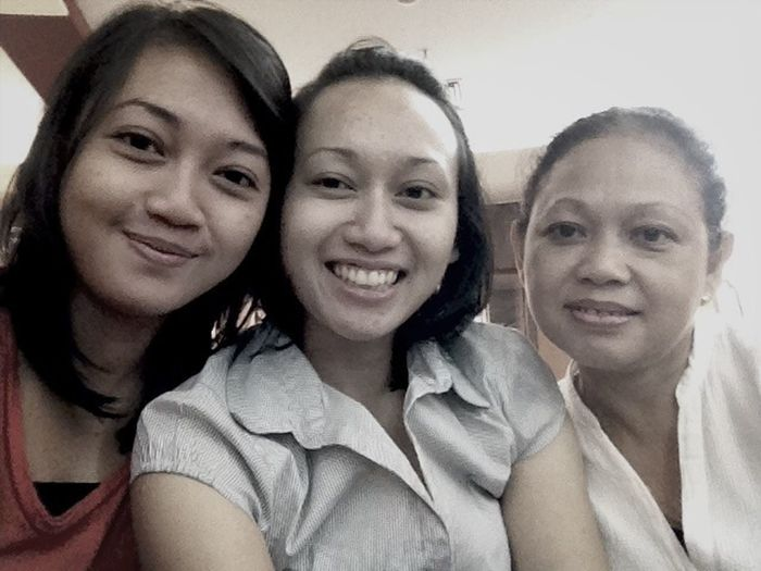 With My Sister And Mom