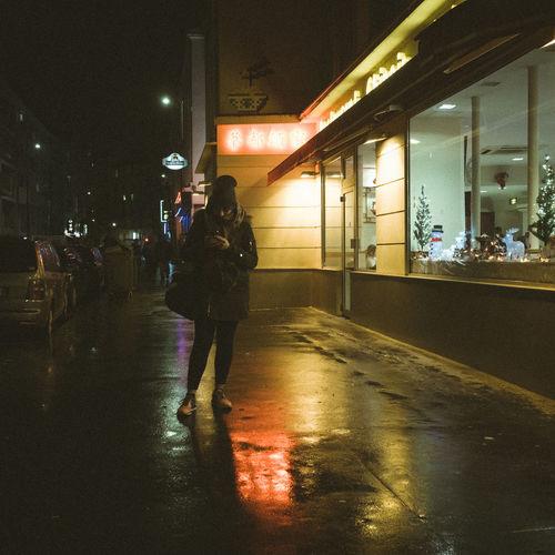 City Life Nightphotography Illuminated Lifestyles Ricoh Gr2 Streetphotography