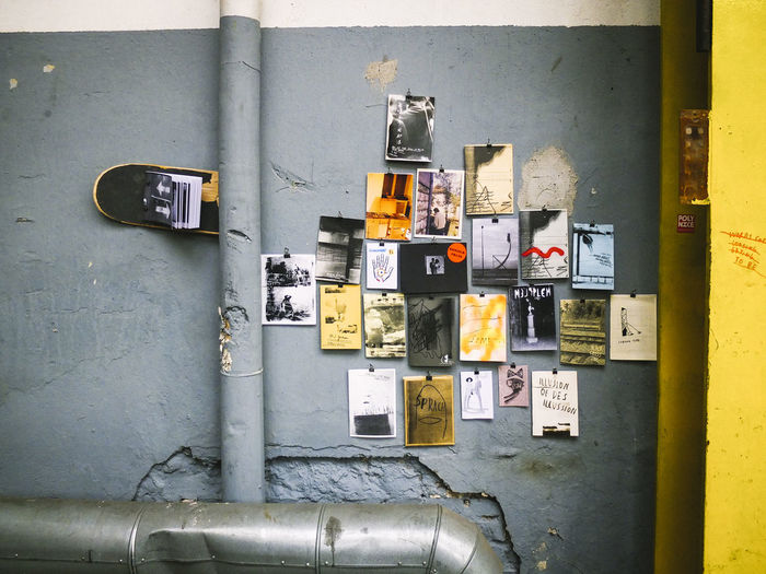 Wall Art Books Colors And Patterns Industrial Multi Colored No People Skateboard The Week Of Eyeem Yellow