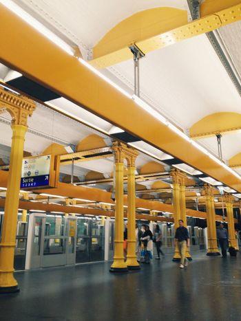 Streetphotography Train Train Station Yellow France Underground