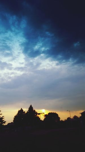Stormy summer sunset. PNW Sunset Sky_ Collection Summer