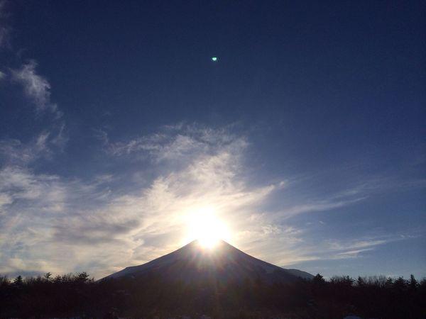 山中湖 ダイヤモンド富士 花の都公園 山梨