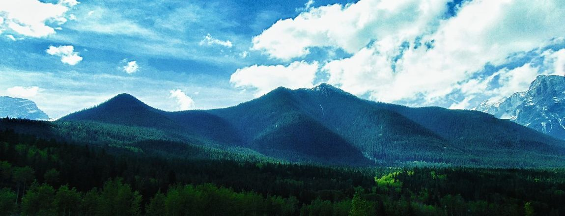 Mountains Mountain Range Alpine Forest Nature Landscape Clouds And Sky Blue Sky Mountain Addict