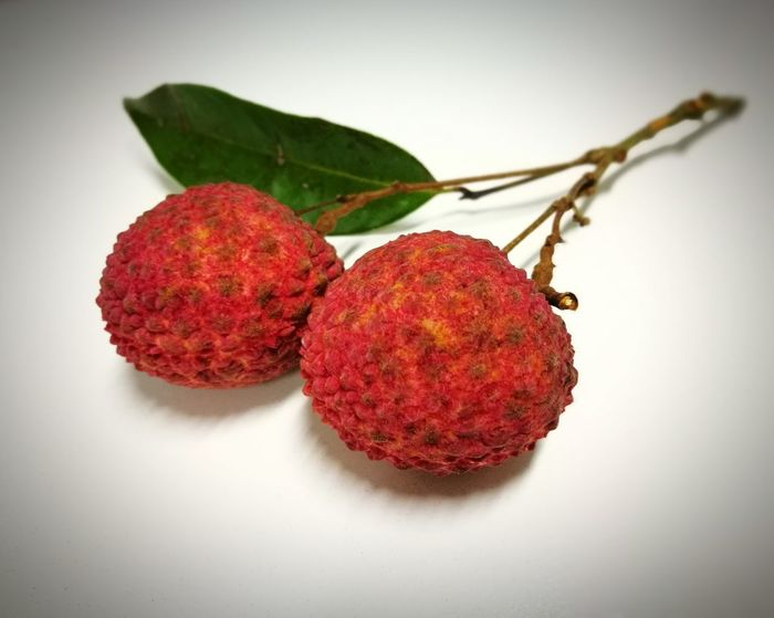 Lychees Lycheedsphotography Lychees On White Blackground Close-up Fruit Thailand