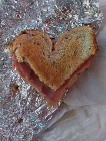 Bread Food Indoors  Close-up Freshness Ready-to-eat No People Sandwich Heart Shape Heart Sandwich Healthy Eating Day